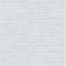 Zora Light Blue Linen Texture Wallpaper