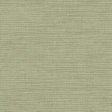 Zora Light Green Linen Texture Wallpaper