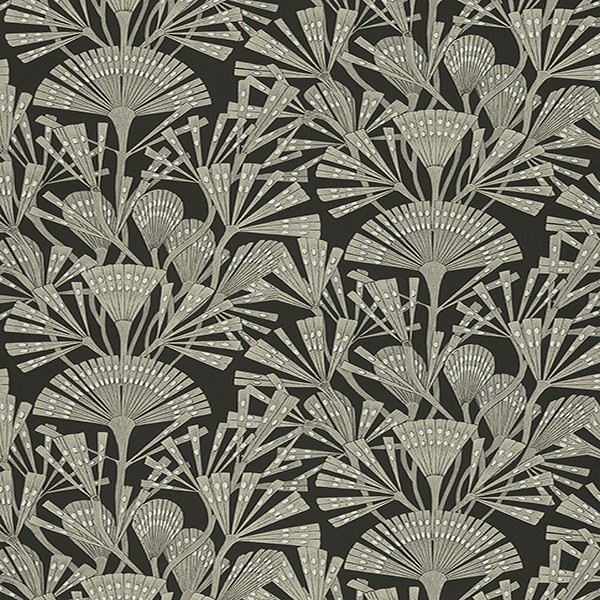 366014 Zorah Black Botanical Wallpaper Wallpaper Boulevard