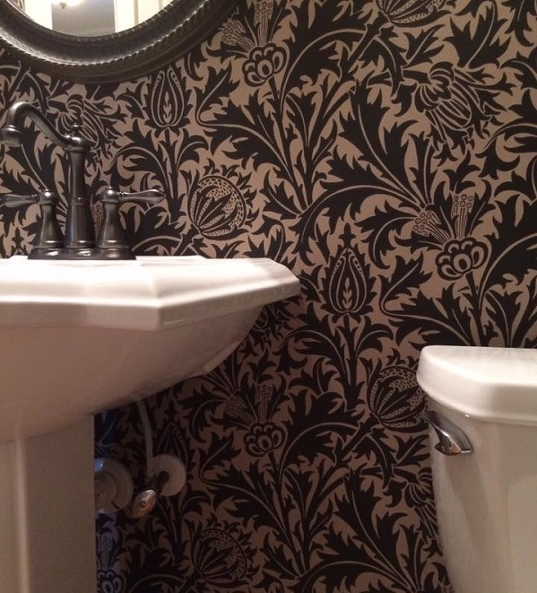 damask wallpaper for bathrooms