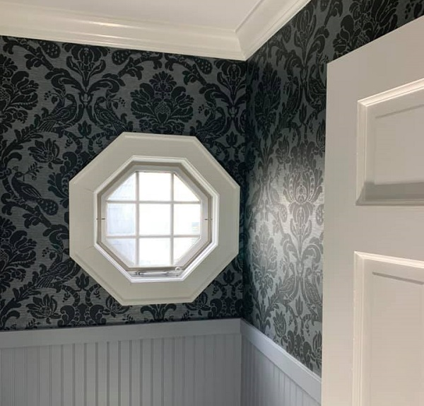 damask for small rooms