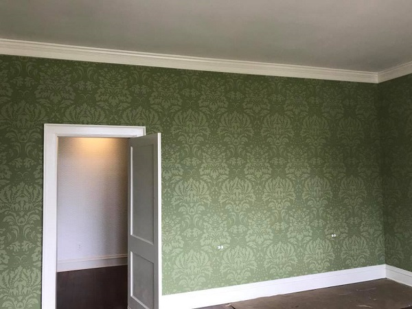 damask wallpaper for large rooms