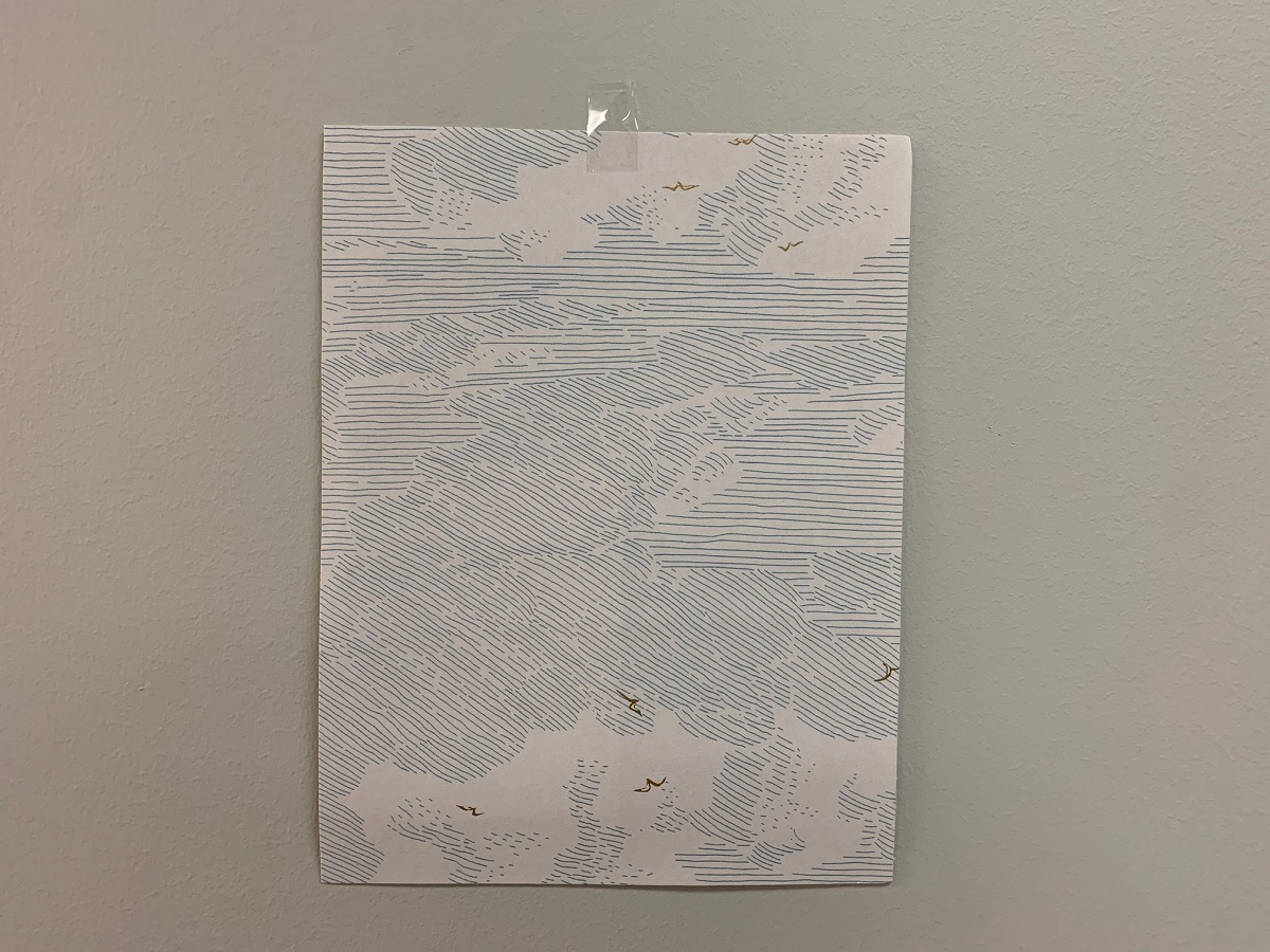 Tape Your Wallpaper Sample To The Wall