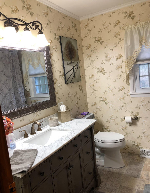 Wallpaper Ideas For The Bathroom 2021, Bathroom Wallpaper Patterns